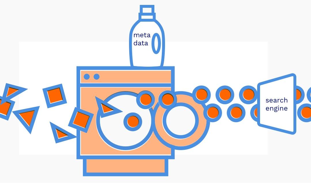 Sfeerbeeld van datadeeltjes die gewassen worden in een wasmachine